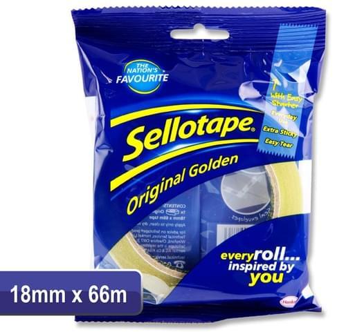 Sellotape 18Mmx66M Original Golden Tape