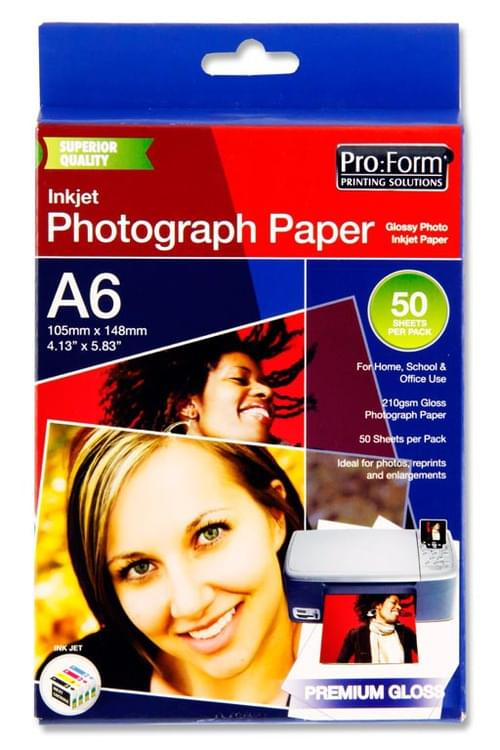 Pro:Form Pack of 50 Sheets A6 Photo Inkjet Paper