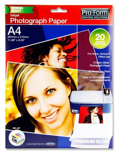 Pro:Form Pack of 20 Sheets A4 Photo Inkjet Paper