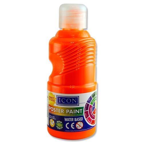Icon Fluorescent Paint 250Ml - Orange