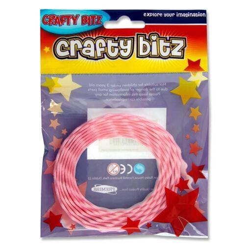 Crafty Bitz Adhesive Felt Ribbon - Pink