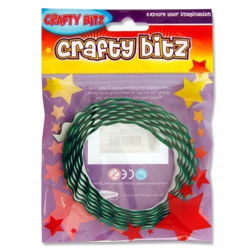 Crafty Bitz Adhesive Felt Ribbon - Green