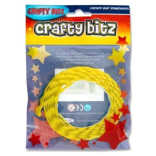 Crafty Bitz Adhesive Felt Ribbon - Yellow