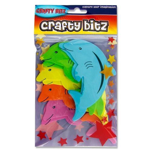 Crafty Bitz Foam Stickers - Dolphins