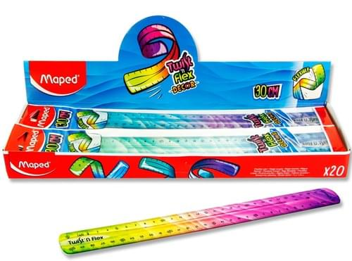 Maped Twist 'N' Flex Decor 30Cm Ruler 3 Asst