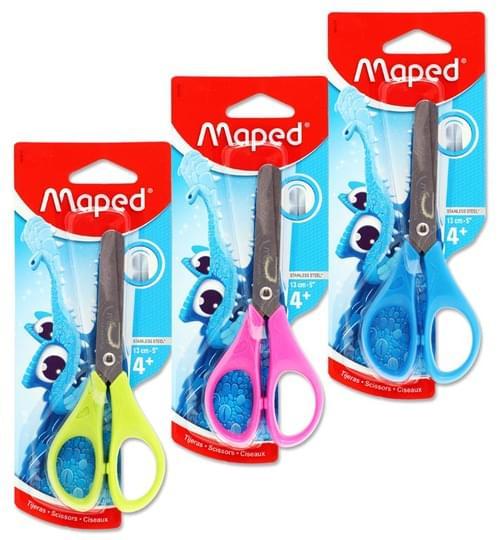 "Maped Essentials 13Cm/5"" Scissors 3 Asst."