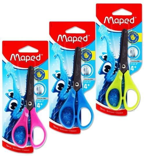 "Maped Essentials 13Cm/5"" Soft Grip Scissors - Left Handed 3 Asst."
