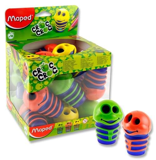 Maped Croc Croc Twin Hole Pencil Sharpener  3 Asst.