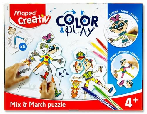 Maped Creativ Color & Play - Mix & Match 5 Puzzles