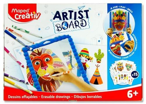 Maped Creativ Artist Board - Erasable Drawings Transparent Board