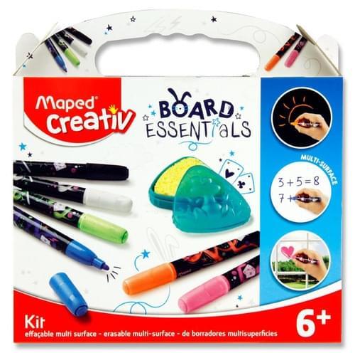 Maped Creativ Board Essentials - Erasable Multi-Surface Marker Kit