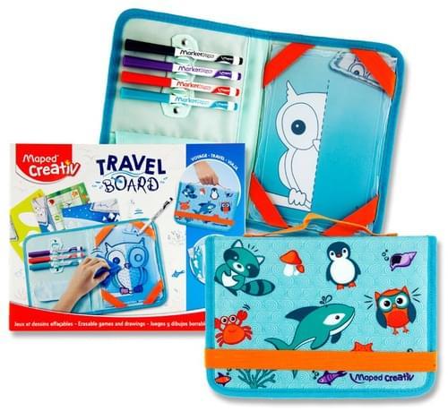 Maped Creativ Travel Board - Erasable Games & Drawings