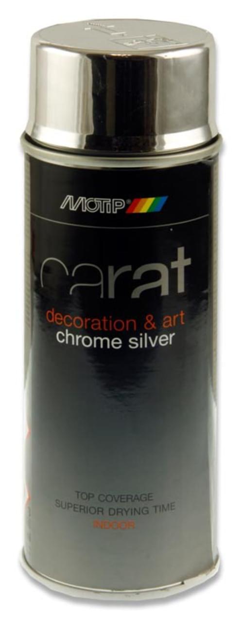 Carat Chrome Effect 400Ml Can Art Spray Paint - Silver