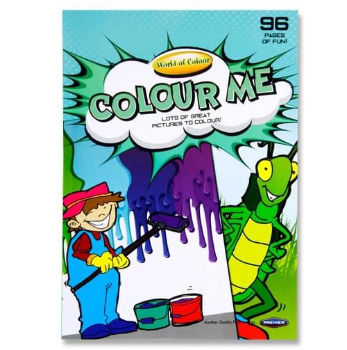 Woc A4 96Pg Colour Me Perforated Colouring Book