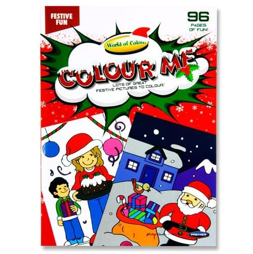 Woc A4 96Pg Xmas Festive Fun Perforated Colouring Book