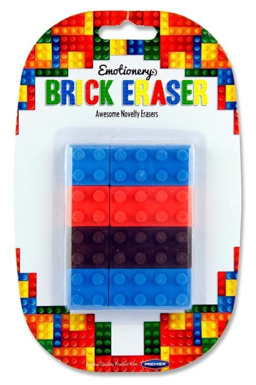 Emotionery Card 6 Brick Erasers