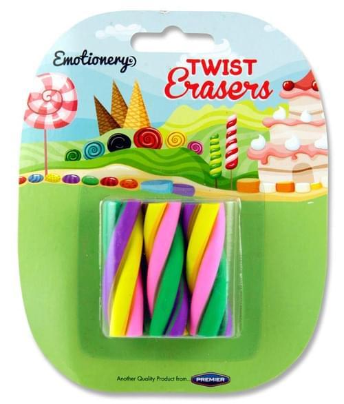 Emotionery Card 3 Twist Erasers