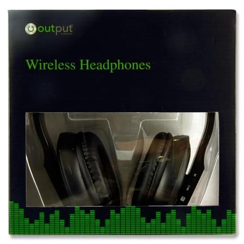 Output Wireless Bluetooth Headphones - Black