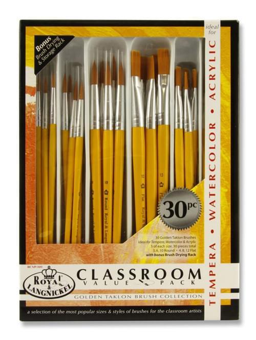 Gold Taklon 30Pc Brush Set