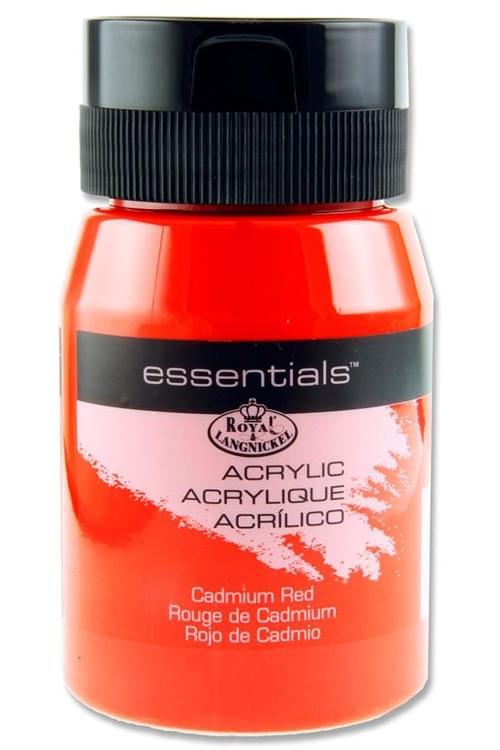 Essentials 500Ml Acrylic Pot - Cadmium Red