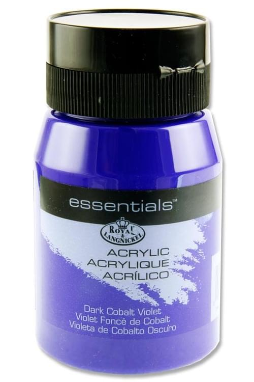 Essentials 500Ml Acrylic Pot - Dark Cobalt Violet