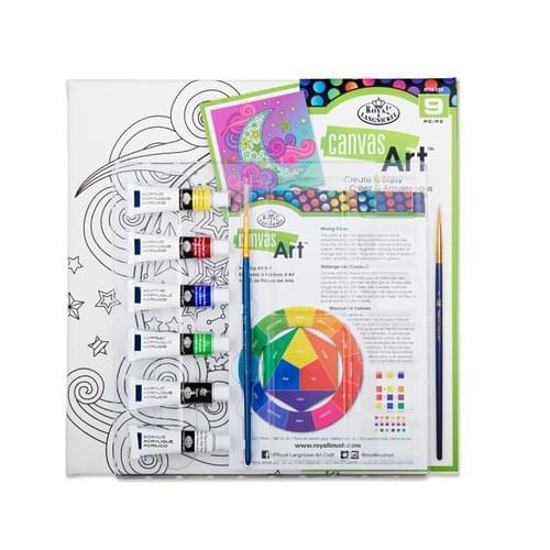 Canvas Art 9Pce Create & Enjoy Painting Set - Moon