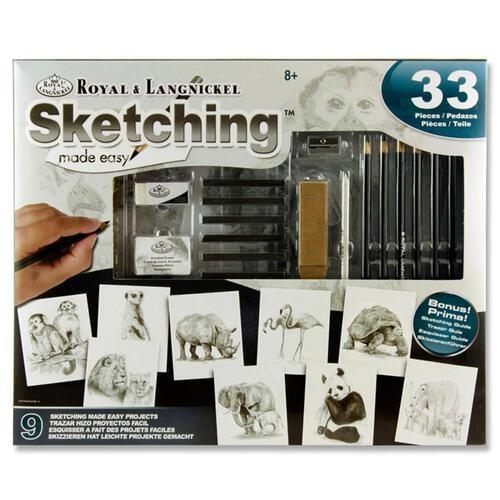 33Pce Sketching Made Easy Box Set