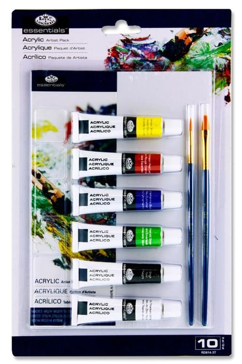 Essentials A5 10Pce Artist Painting Pack - Acrylic