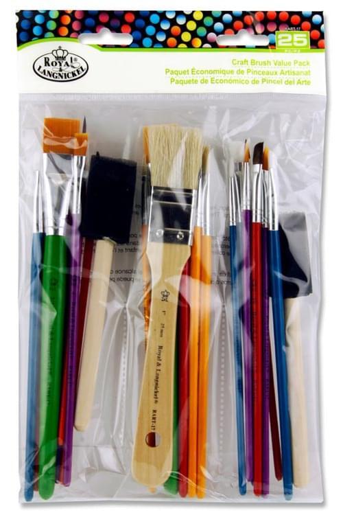 Art & Craft 25Pce Craft Brush Value Pack
