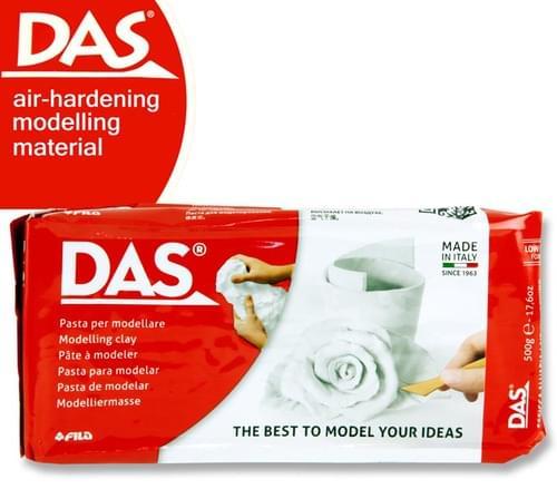 Das 1/2Kg White Air Hardening Modelling Clay