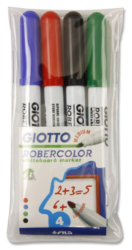 Giotto Robercolor Pack of 4 Bullet Point Whiteboard Markers
