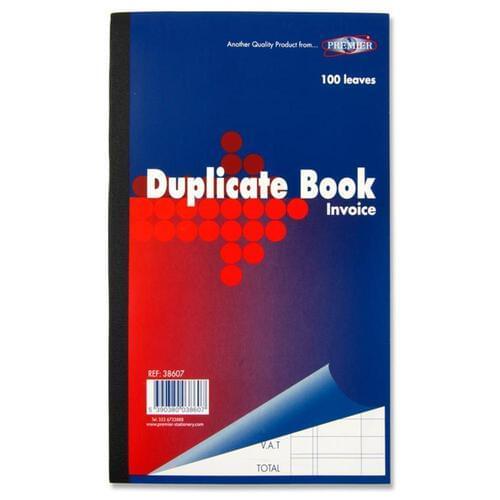 "Premier Full Size 8.5""X 5"" Invoice Duplicate Book"