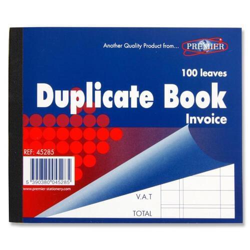 "Premier 4""X5"" Invoice Duplicate Book"