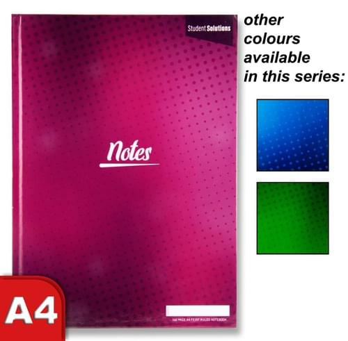 Student Solutions A4 160Pg Hardcover Notebook 3 Asst.