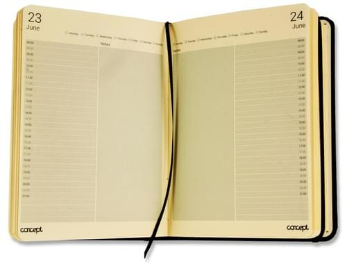Concept A5 Undated Page A Day Diary With Times And Notes