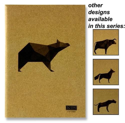 Icon A5 80Pg 110Gsm Kraft Sketch Book Animalia Design 4 Asst.