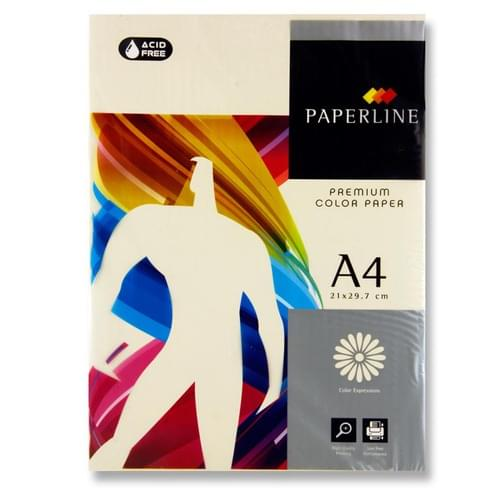 Paperline A4 80Gsm Ream Colour Paper - Ivory