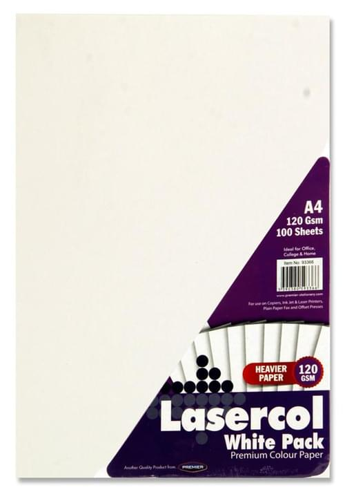 Lasercol A4 120Gsm Activity Paper 100 Sheets - White