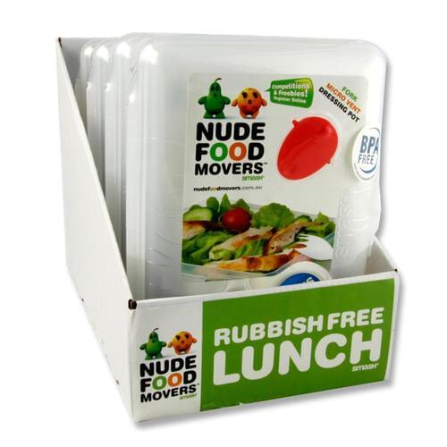 Smash Nude Food Movers Meal Box W/Fork & Dressing Pot