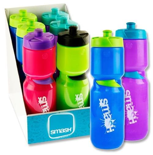 Smash 750Ml Hydrofuel Sports Pop Top Bottle 3 Asst.
