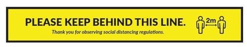 Please Stand Behind This Line - Floor Sticker
