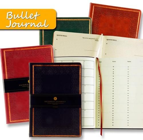 Victorias 14X20Cm 192Pg Flexi Bullet Tote Journal - Classical 4 Asst