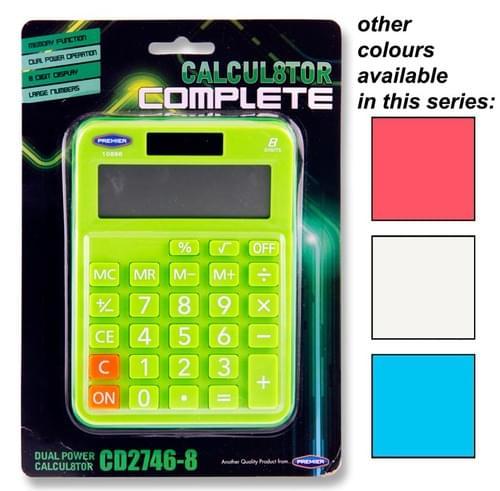 Calcul8Tor Cd-2746-8 8 Digit Calculator Asst.