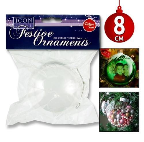 Icon Craft Festive Ornaments - 8Cm Bauble