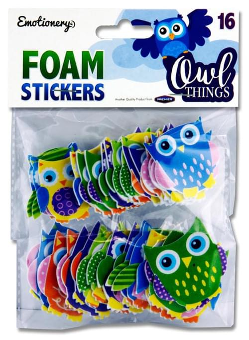 Emotionery Pack of 16 Foam Stickers - Owl Things