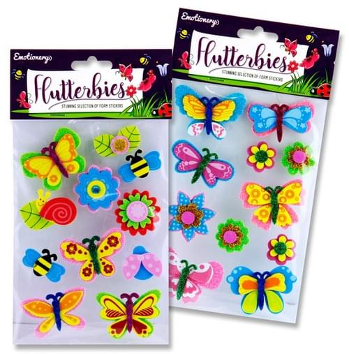 Emotionery 3D Flutterbies Foam Stickers - Butterflies & Flowers