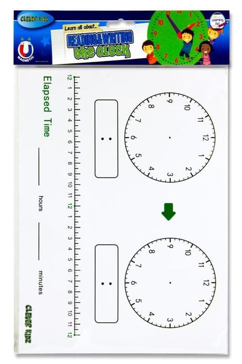 Clever Kidz Whiteboard Clock