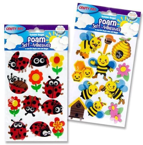 Crafty Bitz 3D Foam Stickers - Ladybug & Bee 2 Asst.