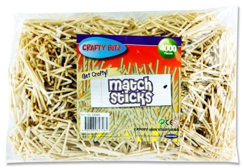 Crafty Bitz 4000 Matchsticks - Natural