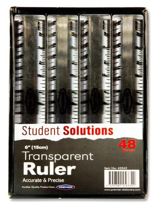 "Student Solutions 6""/15Cm Transparent Ruler"